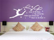 """Follow Your Dreams And Reach For The Stars"" Wall Quote, Vinyl Wall Sticker"
